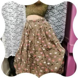 Vintage Lovebirds Circle Skirt